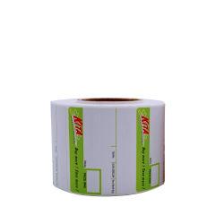 Revestimento Superior de Economia e auto-adesivo etiqueta térmica direta material no rolo jumbo para prateleira de supermercado etiqueta de preço