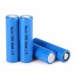 Portable 14500 800mAh 3.7V fonte de alimentação da bateria de íon de lítio