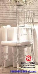Caso claro de hielo de la resina silla Chiavari