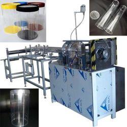 Автоматическая очистить круглого цилиндра из ПВХ окна точечной сварки печать раунда ясно ПВХ трубы в салоне сделать линию для упаковочной промышленности