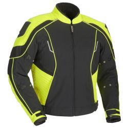 Rivestimento freddo personalizzato del motociclo della tessile nera per gli uomini