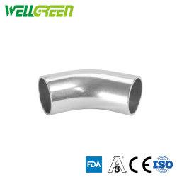 Food Grade du raccord de tuyau en acier inoxydable - Rayon long coude non poli