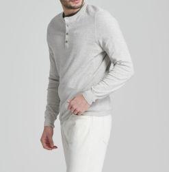 O algodão Cashmere misturado moda masculina Camisetas de manga longa