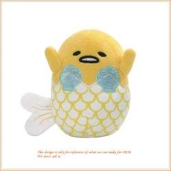 인어 5 인치 수집 가능한 계란 모양 견면 벨벳 인형 장난감