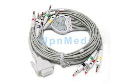 كبل EKG لمخطط القلب الكهربائي الموصل من نوع Schiller AT1 At2 At3 10
