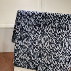 PV de somptueux tissus somptueux imprimé zèbre PV couvertures en laine polaire