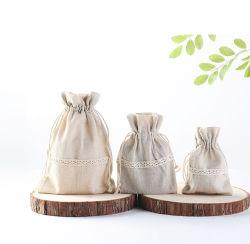引くことストリング袋が付いている中国のブランドの卸売価格のカスタム再使用可能な有機性綿袋