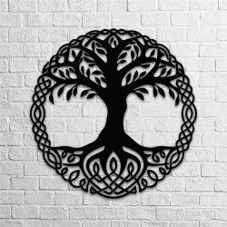 Árbol de la vida de Artesanía de la pared de metal Inicio DECORACIÓN Decoración de pared