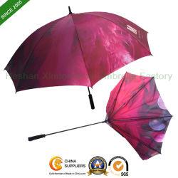 Parcours de golf de la publicité personnalisée parapluie avec plein de bord de l'impression (GED)-0027FC