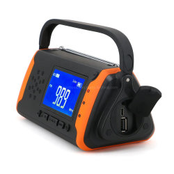 Überleben vermenschlichte Ladung-Solarkurbel-Radio USB-2000mAh