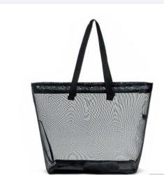 Nueva llegada elegante malla negra Bolsa de compras