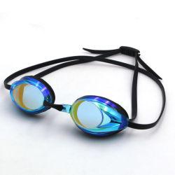 Gafas de natación gafas de arco iris gafas de natación de carreras duplicadas Electroplated nadar Goggle