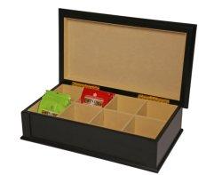 Preto personalizado chá de madeira para Caixa de oferta Tórax do visor
