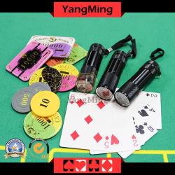 Mini-UV multifonction des jetons de poker Checker violet mauve de la lampe de code Yanchao longe une lampe de poche