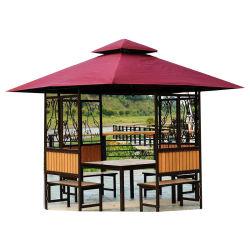 Tenda del baldacchino del Tan dello schermo di Sun del patio del Gazebo del giardino