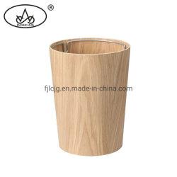 Pattumiera di legno su ordine della cenere dello spreco dello scomparto della pattumiera di legno rotondo per l'hotel