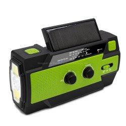 Vendre de la manivelle de lumière chaude générateur de puissance lampe de poche solaire d'urgence avec la radio