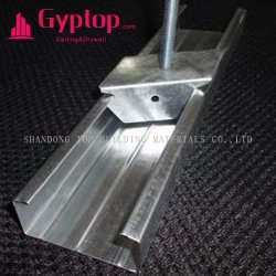 Paneles de Yeso taco de metal galvanizado/pista/Material de acero de metal paneles de yeso los espárragos y las vías