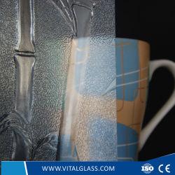 3-6mm Bamboo claire avec ce verre à motifs&ISO9001