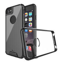 Commerce de gros Crystal Clear Custom 2 dans 1 PC+TPU Combo Téléphone Mobile pour iPhone x