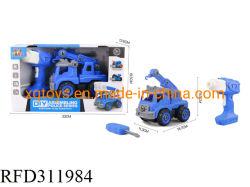 Les enfants de l'éducation Bloc de construction en plastique de bricolage rc jouet Camion