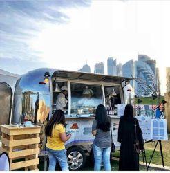 Gli alimenti a rapida preparazione trasportano i camion su autocarro dell'alimento utilizzati rimorchio mobile dell'alimento della corrente d'aria