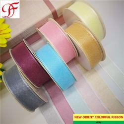 La fábrica de 3mm~75mm Corea Sparkle/brilla pura Grosgrain cinta de organza de raso doble/simple tafetán cara cinta de opciones de banda de cáñamo en Navidad/envoltura o la decoración/Arcos