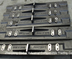 Alta qualidade e alto de aço manganês do cárter do alimentador para o alimentador do Fardo