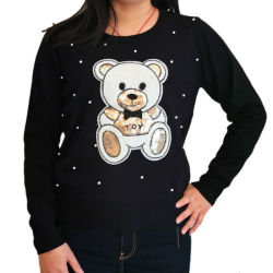 2020 il Knit sottile più poco costoso del pullover dell'orso di disegno più tarda Wholesale/OEM della molla di modo supera il maglione su ordinazione lavorato a maglia manicotto lungo del O-Collo