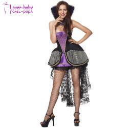 Взрослые Sexy Хэллоуин косплей женщин зла Deluxe Queen костюм L1196