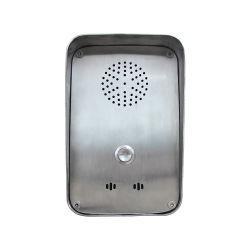 Appartement à ras sans fil de montage mural/Porte étanche Téléphone pour les systèmes de contrôle d'interphone téléphone