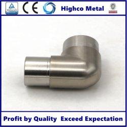 Pasamanos de acero inoxidable de 3 vías de codo de tubo cuadrado de conectores