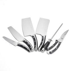 7pcs Cleaver couteau de cuisine ensemble avec l'affûteur et ciseaux