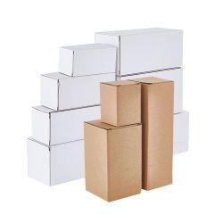 맞춤형 화이트 브라운 운송 골판지 배송 메일 카튼 포장 익스프레스 로고가 있는 배송 상자