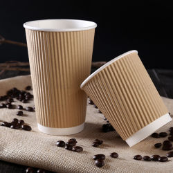 8oz/10oz/12oz/16oz wunderbare maßgeschneiderte Einweg Single / Double / Wellple Wand heiß / kalt trinken Kaffee Tasse Papierbecher mit Deckel