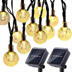 الطاقة الشمسية 50 LED سلسلة الضوء حديقة المسار الديكور مصابيح أضواء شروق الشمس العالمية الخارجية