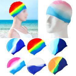 수영 캡 긴 머리 여성용/여성용 실리콘 방수 귀마개