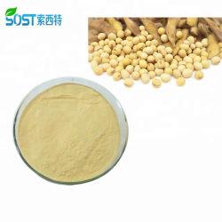 Échantillon gratuit de la poudre de soja non OGM extrait 80 % isoflavone de soja 574-12-9