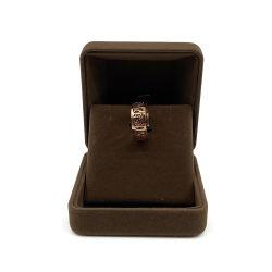 Joyero de metal de lujo tapa transparente de terciopelo marrón Organizador de la caja colgante con logotipo personalizado