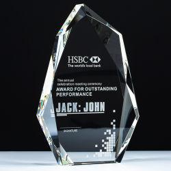 K9 BLANK BLANK Crystal Trophy Award Block تخصيص صورة الليزر 3D النقش للهدايا التذكارية
