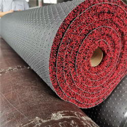 OEM Custom Strong Coil Adhesion met Base Dual Colors PVC Spoelmat/op maat gemaakte waterdichte PVC-spoelmat voor vloer/PVC-spoel Vloertapijt/welkomstdeurmat