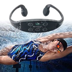 무선 헤드폰 Ipx8를 훈련하는 주위 건강한 수영은 Bluetooth 이어폰 스포츠 뼈 유도 헤드폰을 방수 처리한다