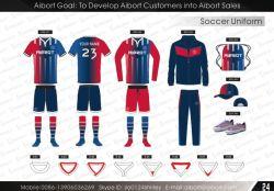 OEM van Aibort Goedkope Sublimatie 100% Voetbal Jersey van de Slijtage van het Team van de Voetbal van de Polyester (v-FOOTBALL1 (9))