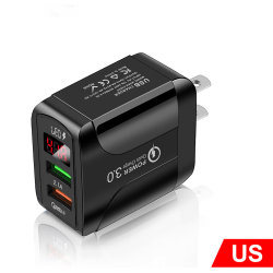 Дешевые США/ЕС/UK QC3.0 цифровой дисплей 1 A быстрое зарядное устройство настенное зарядное устройство USB для мобильного телефона зарядное устройство высокого качества
