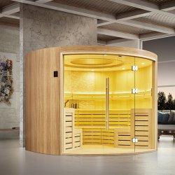 Persona familiare 4-8 di Hamam asciutta con la stanza russa di sauna Glass Cabine De Sauna Preo per la famiglia