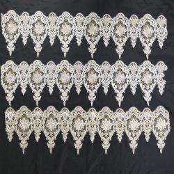 مصنع بالجملة سعر الحبل مطرز Lace مع الخرز قطعة قماش