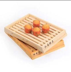 Деревянный лоток десерт лоток с помощью рукоятки японский чайный лоток классический цельной древесины творческой группы торт закусочный лоток завтрак питание наружное кольцо подшипника из дерева с лотка для бумаги в лоток