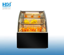 900мм дисплей в коммерческих целях охладитель стеклянные двери пекарня корпус дисплея кондитерский прилавок Hcs-09