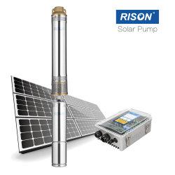 Sumergible de acero inoxidable 304 Sistema de bombeo solar de agua para riego 1HP DC sin escobillas Soalr bombas de agua bomba de CC Kits para el riego y de menor tamaño interno