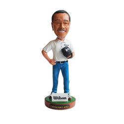 工場カスタム卸売7インチの振動ヘッド人形の野球の人形の樹脂の彫像の装飾のギフトの記念品